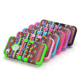 Wholesale Iphone Tribal Pattern - Tribal Pattern High Impact Hard Rubber Silicone Case Cover Cases For iphone 4 4S Wholesale Free shipping Free shipping 30pcs