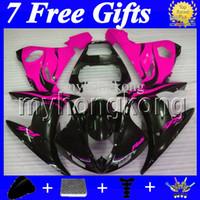carenados de alta calidad al por mayor-7 Regalos gratis para YAMAHA Rose flames YZF-R6 YZF600 2004 2005 YZF 600 YZF R6 MK269 04 05 YZFR6 Rose BLK 2004 2005 Kit de carenado de alta calidad