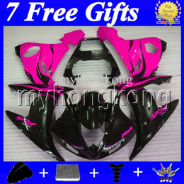 Discount yamaha gifts - 7Free gifts For YAMAHA Rose flames YZF-R6 YZF600 2004 2005 YZF 600 YZF R6 MK269 04 05 YZFR6 Rose BLK 2004 2005 High Qual