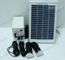 Wholesale Indoor Solar Lighting Systems - energy Solar system 5W solar panel + battery + two Led lighting systems, home indoor outdoor MYY36