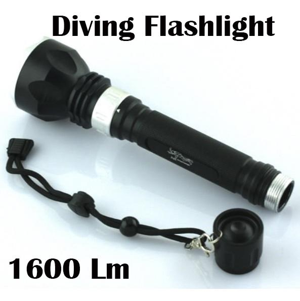 New Underwater Diving Flashlight Torch T6 LED Light Lamp Waterproof 50 Meter Depth Diving LED Flashlight flashlight Torch Lamp +Strap
