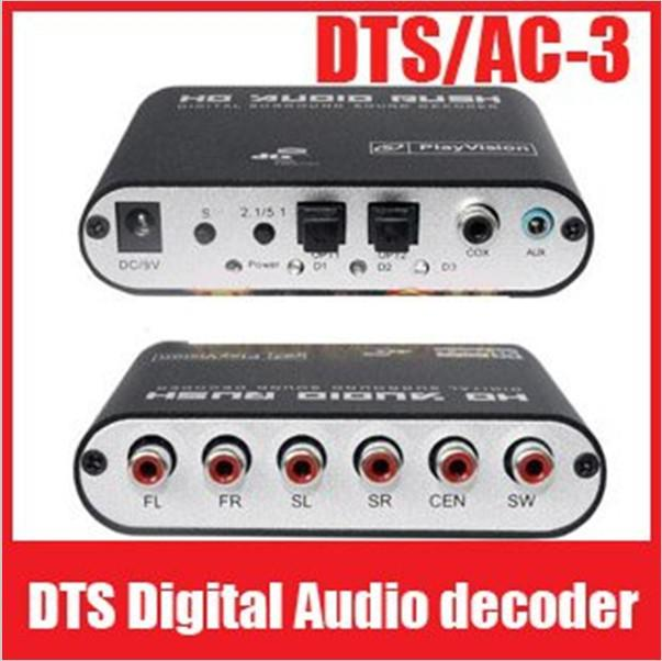 5,1 / 2.1Channel AC3 / DTS Audio Digital Surround Sound Gear fiebre del decodificador de cine en casa, DTS / AC-3 audio digital decodificador