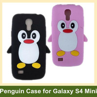 Wholesale Penguin S4 - Wholesale Lovely Penguin Case for Galaxy S4 Mini i9190 Soft Animal Cover Case for Samsung Galaxy S IV Mini i9190 10pcs lot Free Shipping