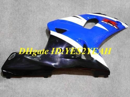 Kuiken Body Kit voor Suzuki GSXR600 750 01 02 03 GSXR 600 GSXR750 K1 2001 2002 2003 White Blue Backings Carrosserie + Geschenken