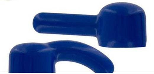 Hitachi Magic Wand Massage Blue Attachment Removable Head Tips Accessory for Hitachi,Ada & Eve,10 Speed wands 50pcs/lot