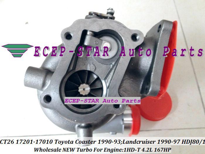 터보 CT26 17201-17030 1720117030 17201 17030 터보 차져 Toyota Coaster 용 1990-93 육상 크루저 TD 1990-97 1HD-T 1HDT 1HD-FT 1HDFT 4.2L