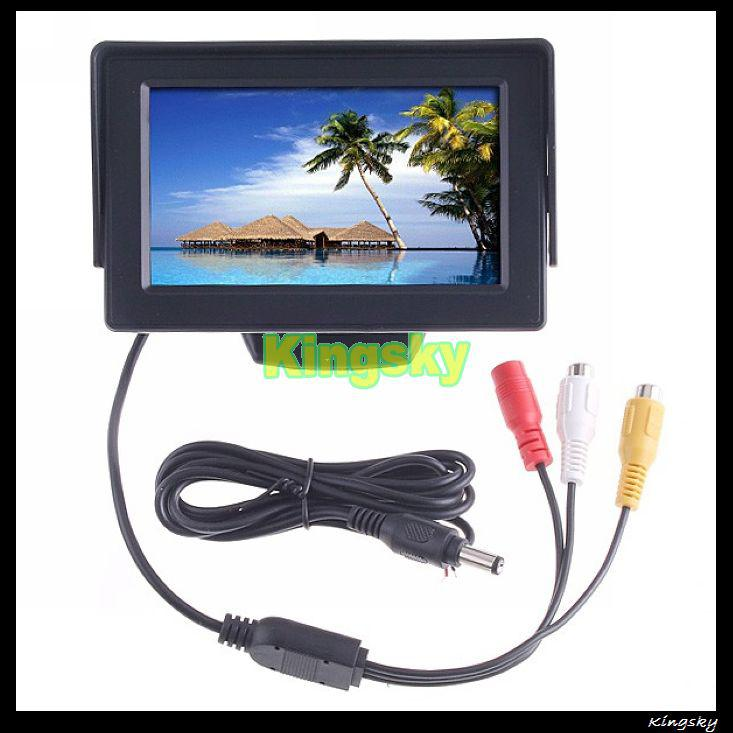 "Mini Wireless Reverse Camera 170 degree + 4.3"" LCD Monitor Car Rear View Kit"