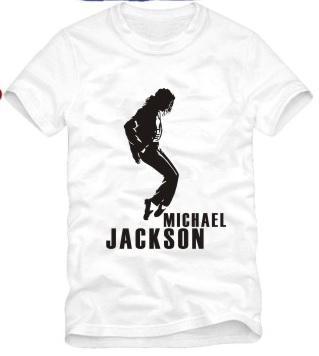 Frete grátis Tshirt Para 90/100/110/120/130/140/150 cm para crianças Michael Jackson tshirt, homem no espelho dança camiseta 100% algodão 6 cores