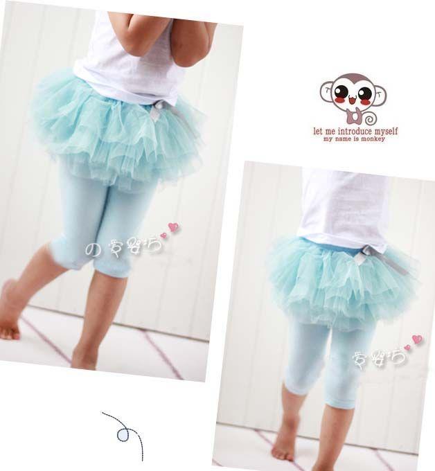 아동 스커트 레깅스 베이비 의류 아동 여름용 반바지 소녀 용 레이스 스타킹 스키니 팬츠 패션 바느질 공주님 레깅스 Kids Culottes