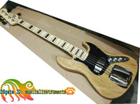 Wholesale custom jazz bass - Custom 5 Strings Jazz Electric Bass Natural Electric Bass Guitar New Arrival Top Musical instruments Free Shipping