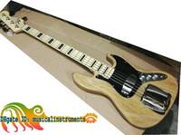 instrumentos de bordo venda por atacado-Personalizado 5 Cordas Jazz Elétrico Baixo Natural Elétrica Guitarra Baixo Chegada Nova Top instrumentos Musicais Frete Grátis