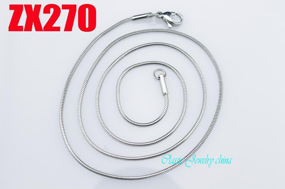 New recomendar Alta qualidade 1.0mm aço inoxidável cadeia de cobra colares 16 '' / 18 polegada mulheres presente da forma da senhora