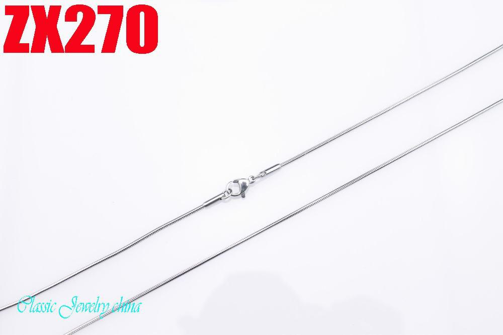 Nieuw Aanbevelen Hoge Kwaliteit 1.0mm roestvrij staal Snake Chain Kettingen 16 '' / 18inch 10 stks Dames Lady's Fashion Gift