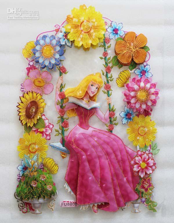 Wholesale Wall Sticker - Buy 3D Wall Sticker Sleeping Beauty Kids ... - Sleeping Beauty Nursery Theme