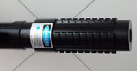 ingrosso luci laser lazer-Potente potere AAA Puntatori laser blu militare 445nm 450nm Torcia elettrica Light Lazer Beam + occhiali + caricatore + confezione regalo Caccia
