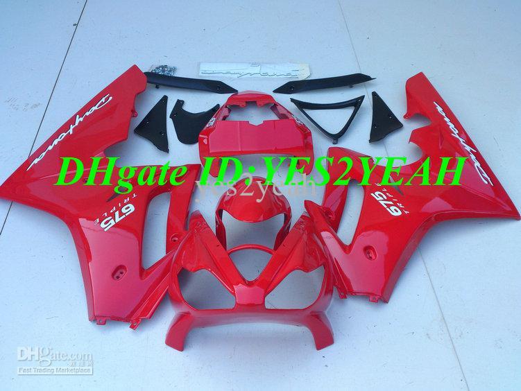Injectie Fairing Body Kit voor Triumph Daytona 675 Daytona 675 2006 2008 Daytona675 05 06 07 09 10 Red Backings Set + Gifts TM29
