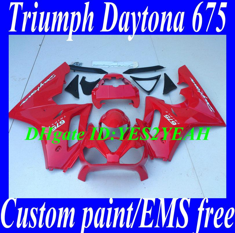 Kit corpo carena iniezione TRIUMPH DAYTONA 675 Daytona 675 2006 2008 Daytona675 05 06 07 09 carene rosse + regali TM29
