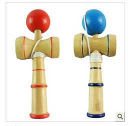 Wholesale Cup Ball Japanese - Wholesale -100pcs Free shipping by DHL EMS 5.5inch*2inch kendama cup-and-ball game kendama japanese toy wooden toy