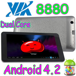 Wholesale Touch Play Tablet - 10Pcs 7 Inch VIA8880 Dual Core Android 4.2 Capacitive Multi Touch Tablet PC HDMI Wifi Dual Camera Play Store WM8880 VIA 8880