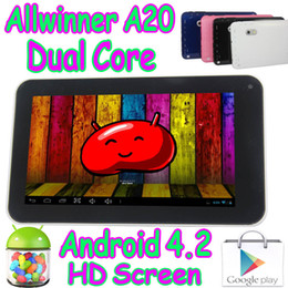 Wholesale Q88 Pro Tablet Pc - 50Pcs Allwinner A20 Dual Core A70X Q88 Pro Upgraded 7 Inch Android 4.2 Capacitive Touch Screen Tablet PC Play Store HDMI Wifi Camera