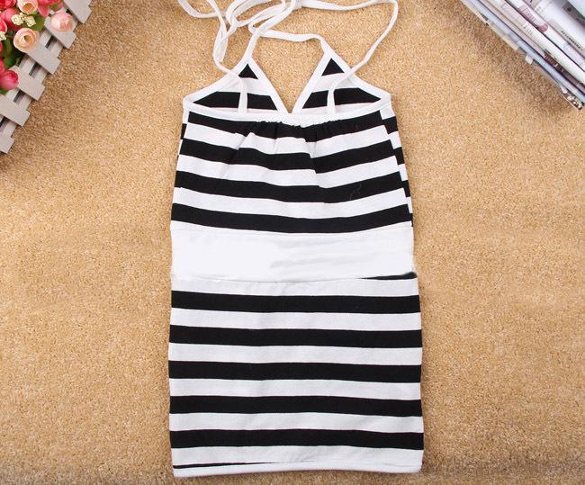 Livraison gratuite, 2013 nouvelle arrivée, robe fille blanche sans manches à rayures blanches, mini robe d'été pour enfants, vêtements pour enfants, TQL045