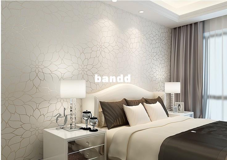 Off white jacquard non woven wallpaper fashion wallpaper for White wallpaper room