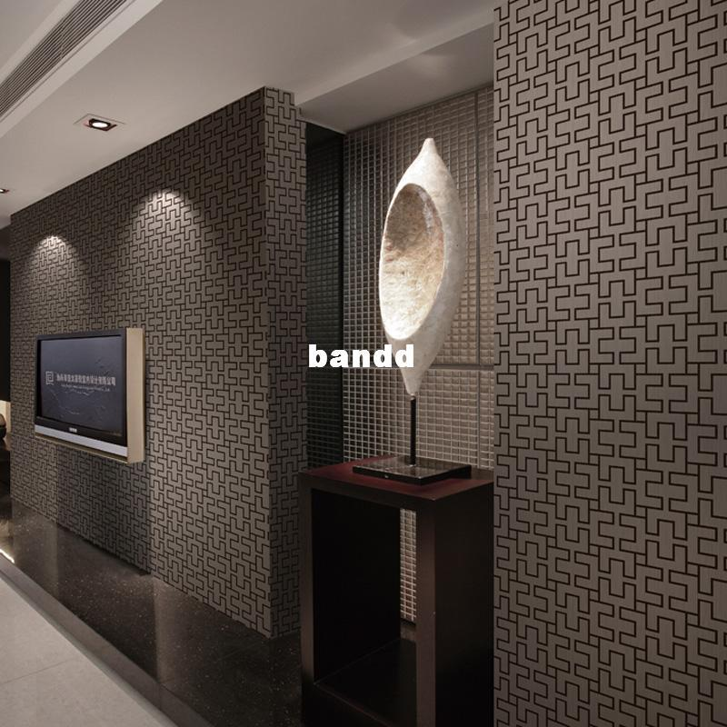 Wall stickers flower pvc wallpaper modern brief geometry for Modern wallpaper for walls designs