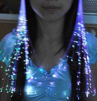 Wholesale Light Up Gadgets - Free EMS DHL 215pcs Colorful Flash LED Light Up Hair Braid Shine Decoration flash Glow LED Gadgets hair masquerade for Party Carnival