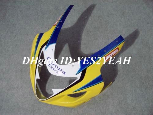 Carrocería de carenado para 2004 2005 SUZUKI GSXR600 750 GSXR600 GSXR750 K4 04 05 GSXR 600 Corona amarillo azul Kit de cuerpo de carenado SM33