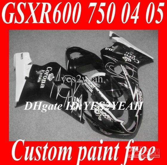 Kuiken Carrosserie voor 2004 2005 Suzuki GSXR600 750 GSXR600 GSXR750 K4 04 05 GSXR 600 Witte Zwarte Motorfiets Backings Body Kit SM40