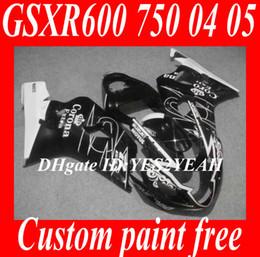 Wholesale Suzuki Motorcycle Fairings Corona - ABS Fairing kit for 2004 2005 SUZUKI GSXR600 750 GSXR600 GSXR750 K4 04 05 GSXR 600 Corona white black Motorcycle fairings kit SM40
