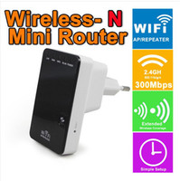 mini yönlendirici n toptan satış-300 Mbps Kablosuz-N Mini Tek Yönlendirici Wi-Fi AP Tekrarlayıcı AB / ABD Plug