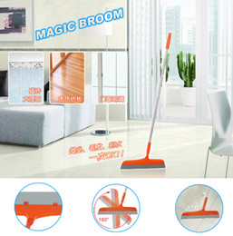 Wholesale Magic Dust Cleaning - Magic Broom Sweep Dust Hair Bathrooms Wiper Brooms Rotate Connector Rubber Mop Cleaning Tools