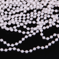 20 Yards 4mm blanc ronde perle strand Garland Wedding Centerpiece Décoration