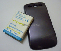 Wholesale Extended Battery For Galaxy S3 - New 4500mAh Extended Battery + Blue Cover For Samsung Galaxy S3 III I9300 T-Mobile T999 Sprint L710 Verizon i535 AT&T i747 R530