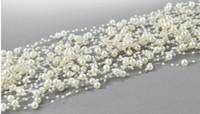 Wholesale Wholesale Bead Garland - 10pcs Creamy 8mm&3mm Pearl Beads Garland Wedding Centerpiece Hair Accessories Decoration Craft DIY