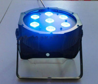 Wholesale par profile - 8W*7pcs 4in1 Quad LEDs (RGBW) NEW Mega Quadpar Profile , DMX flat Par light stage lighting