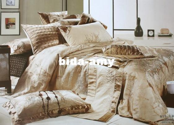 For christmas sale 15 luxury silk bedding set duvet cover for Exclusive bed linen south africa