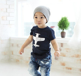 Wholesale Model T Male - Male children's clothing Korean version with children with short sleeves T-shirt vest model plane