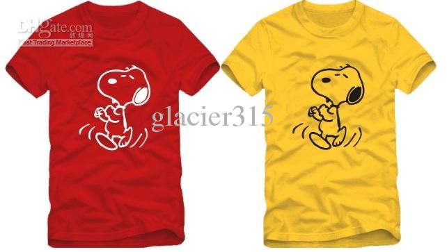 free shipping new arrival summer tee kids t shirt children T-shirt snoopy printed t shirt cartoon dog t shirt 100% cotton 6 color