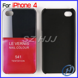 Wholesale Iphone Covers Nail Polish - For iPhone 4 4S Luxury Case Plastic Colorful Case Nail Polish Perfume Scent Bottle Back Cover