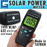 Wholesale Solar Cell Make - T206 Digital Solar Power Meter BTU W M2 Radiation Energy Cell Tester (Made in Taiwan)
