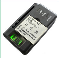 Wholesale Lcd Galaxy S3 - Universal Intelligent LCD Indicator battery Charger For samsung GALAXY S4 I9500 S3 I9300 NOTE 3 S5 with usb output charge US EU AU PLUG