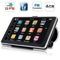 Wholesale China Car Tvs - 7'' inch HD 800*480 Car GPS Navigation 4GB Maps Multi-Media Bluetooth AV-IN Car Navigator Analog TV (PAL NTSC SECAM) Player