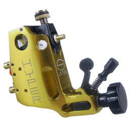Wholesale golden liner - Golden Stigma Hyper V3 Style Rotary Tattoo Machine Gun Shader Liner For Tattoo Needle Ink Cups Tips Kit