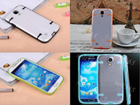 Wholesale S4 Tpu Bumper - New Arrival Fluorescent Glow in the Dark TPU Bumper Clear Cover Case Noctilucent for Samsung Galaxy S4 I9500 Skin Shell Protective Cases