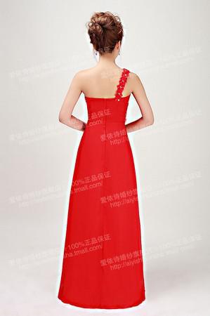 멋진 패션 우아한 하나의 어깨 크리스탈 Sweeaheart 스팽글은 페르시 프룻 길이 저녁 파티 드레스 드레스 드레스