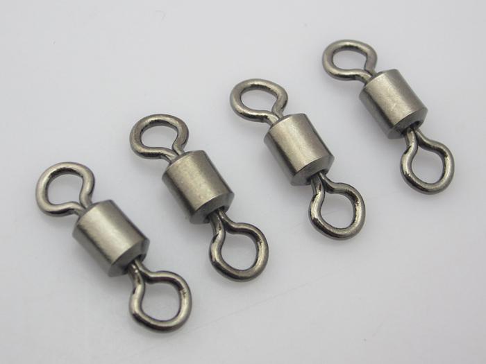 100 stks Vissen Rolling Swivel Connector Solid Ringen Maat 3/0 # Test: 120kg