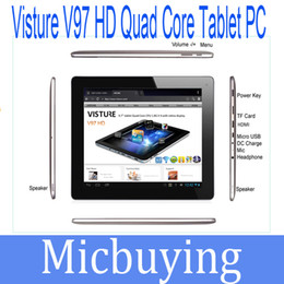 "Wholesale 16gb Tablets Sale - 9.7"" Tablet PC Android 4.1 OS Visture V97HD RK3188 Quad Core 2G RAM 16GB Bluetooth 5.0MP Camera 2048x1536 Hot Sale"