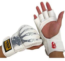 Wholesale Taekwondo Gloves Free Shipping - Free Shipping 8PC 4Pair High Quality Fist Gloves Hand Protective Sets Boxing Glove Sandbag For Taekwondo Sanda Combat